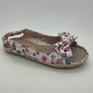 Girls Youth Shoes ProActive Tara White Floral Slingback Sandals